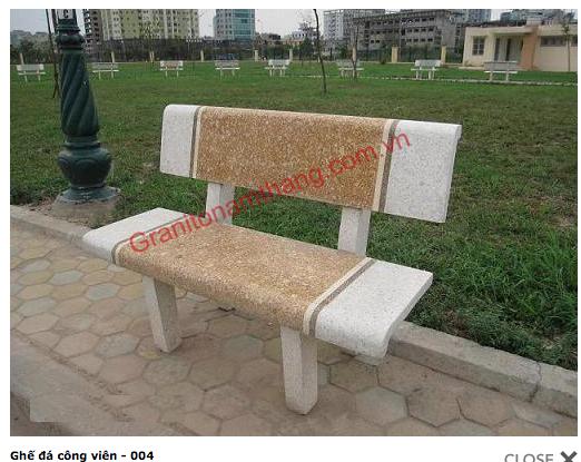 Ghế đá công viên 004